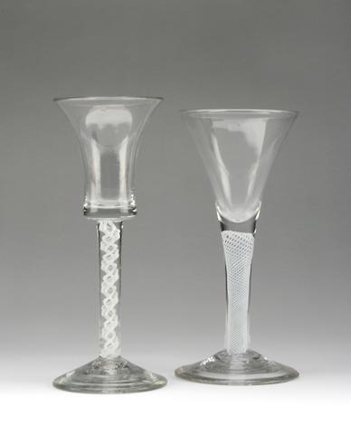 An opaque twist wine glass Circa 1770