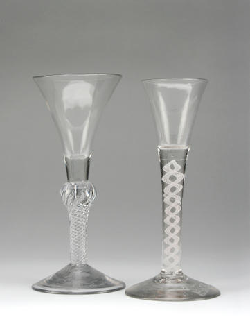 An opaque twist wine glass Circa 1740