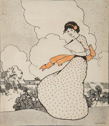 Paul Henry R.H.A. (Irish, 1876-1958) Summer Breeze