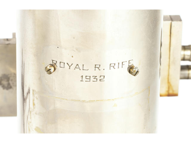 An exceptionally rare Royal R Rife polished steel compound microscope,  American,  dated 1932,