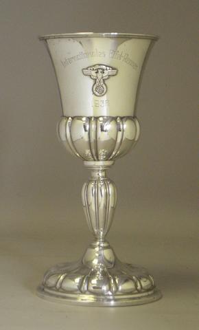 A 1936 Avus Internationales Eifel-Rennen race winner's trophy,