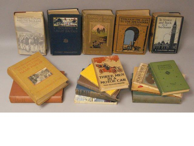 Assorted motoring touring books,