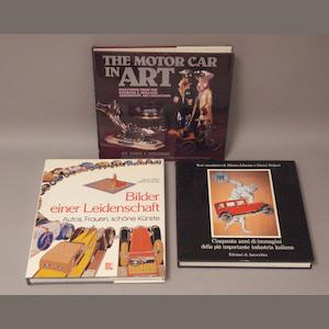 Three automobilia reference books,