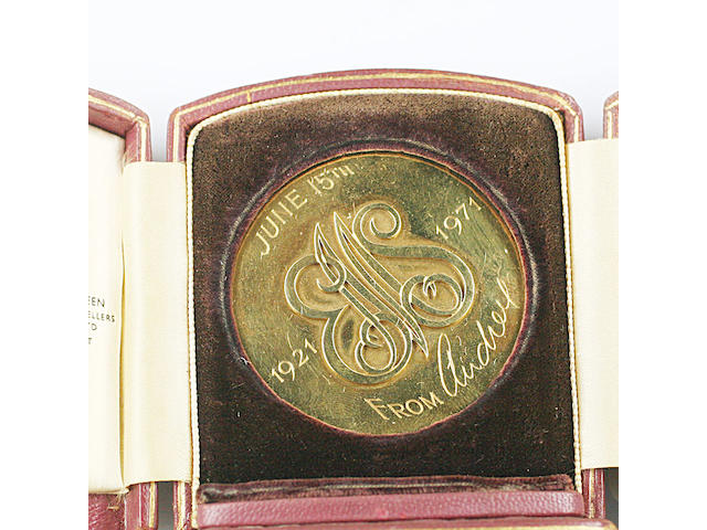 An 18ct gold commemorative medallion, by Asprey & Co
