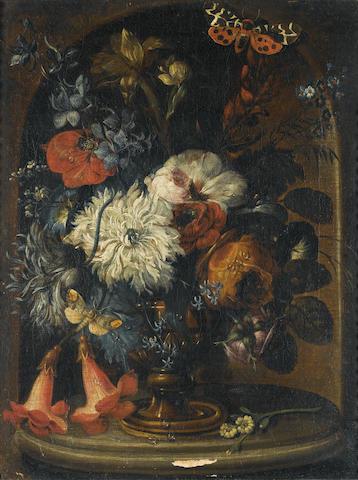 Dreschsler, Pair of flower still lifes, (2)