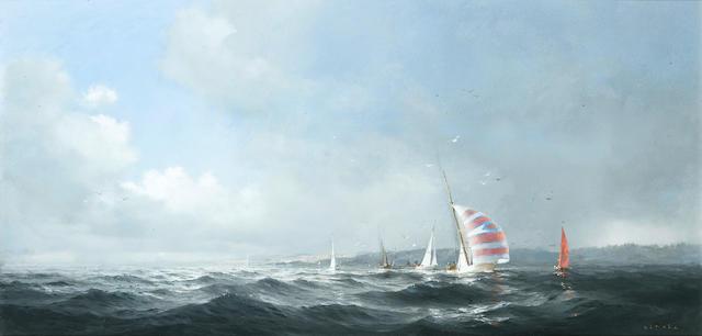 Dusan Kadlec (Canadian, born 1942) The yacht race