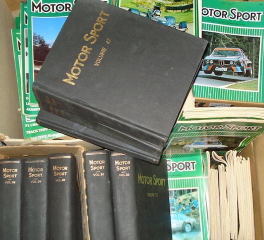 Nine bound volumes of MotorSport, 1956 to 1971,