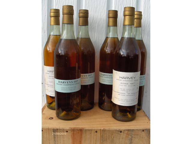 Harveys Early Landed Grande Champagne Cognac 1957 (6)