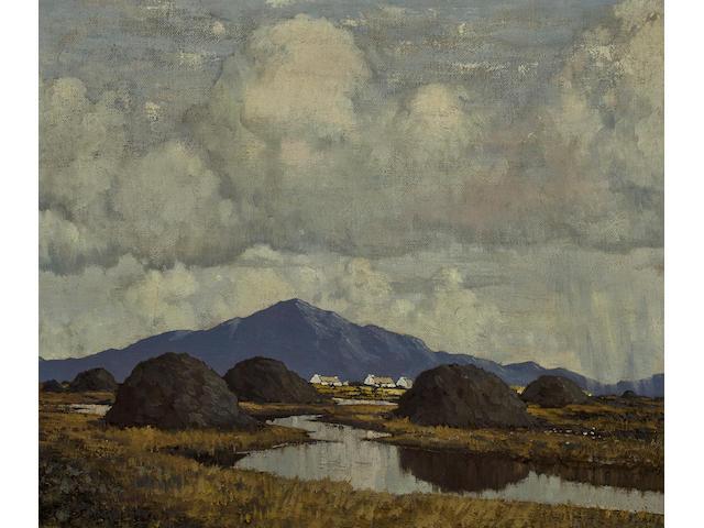 Paul Henry R.H.A. (1876-1958) An Irish Bog 56.5 x 66.7 cm. (22 1/4 x 26 1/4 in.)