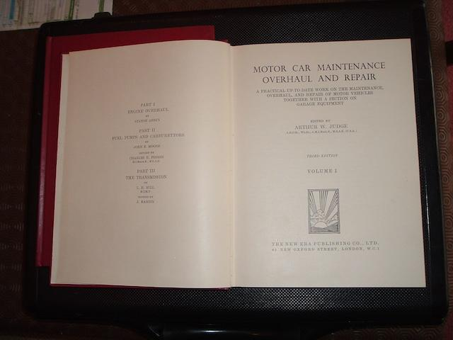 Motor Car Maintainance Overhaul and Repair, edited by Arthur W Judge,