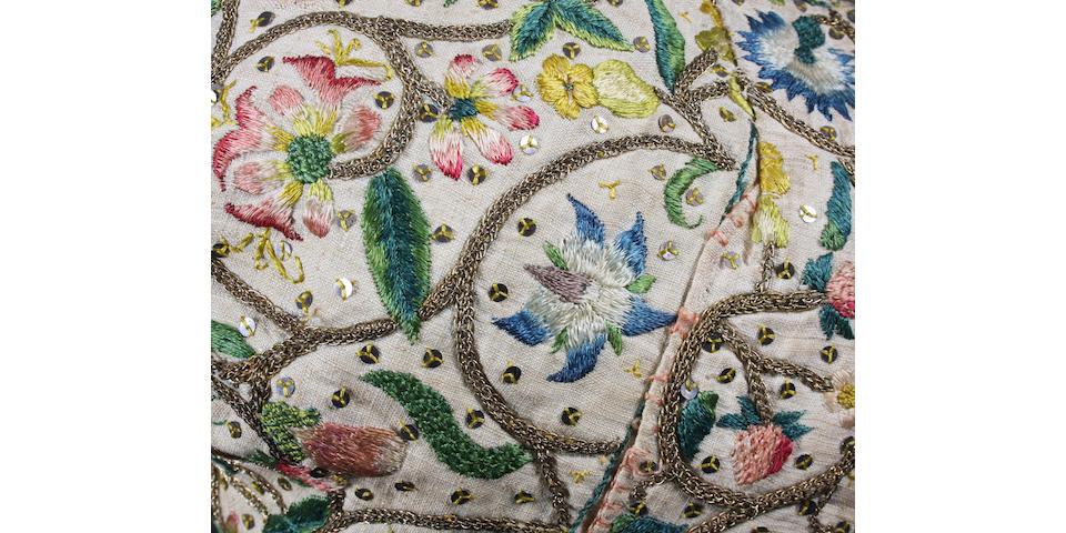 A fine 17th century lady's needlework cap