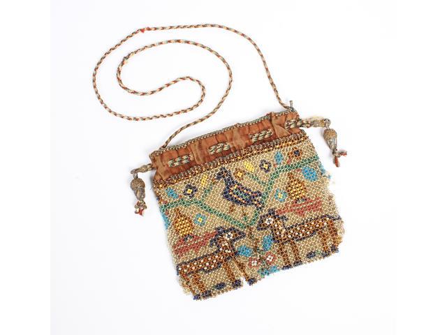 A 17th century beaded purse
