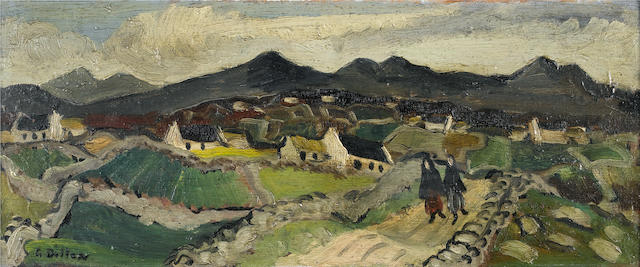 Gerard Dillon, 'Hills of Donegal', oil on board, 1947