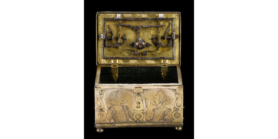 A Rare South German Miniature Casket (Mankästche)