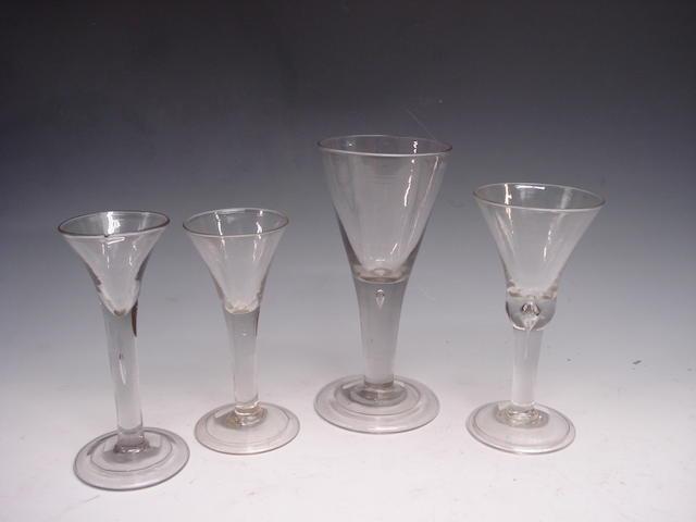 A plain stem goblet Circa 1740
