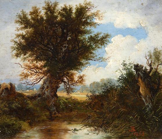 John Berney Ladbrooke (British, 1803-1879) River landscape
