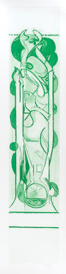 Graham Sutherland O.M. (British, 1903-1980) Pupae I Etching and aquatint, 1977, printed in green, on wove, signed and numbered 36/75 in pencil, printed and published by Valter and Eleonora Rossi, Rome, with their blindstamp, 1310 x 470mm (51 1/2 x 18 1/2in)(PL) unframed