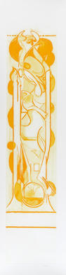 Graham Sutherland O.M. (British, 1903-1980) Pupae I Etching and aquatint, 1977, printed in yellow, on wove, signed and numbered 57/75 in pencil, printed and published by Valter and Eleonora Rossi, Rome, 1310 x 470mm (51 1/2 x 18 1/2in)(PL) unframed