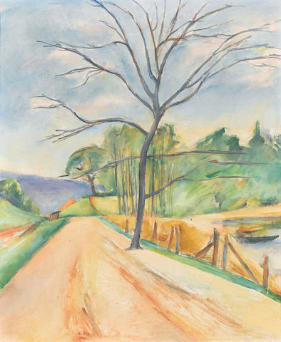 Isaac Grünewald (Swedish, 1889-1946) Trädet vid vägen (Tree by the road)