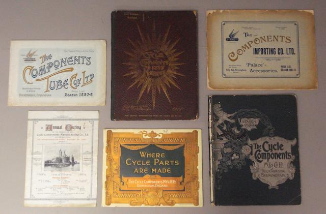 Pre-1900 sales literature for the Cycle Components Manufacturing Co Ltd,