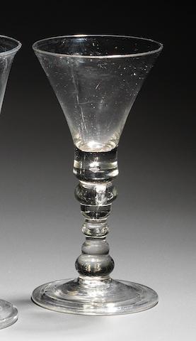 A rare heavy baluster goblet circa 1720