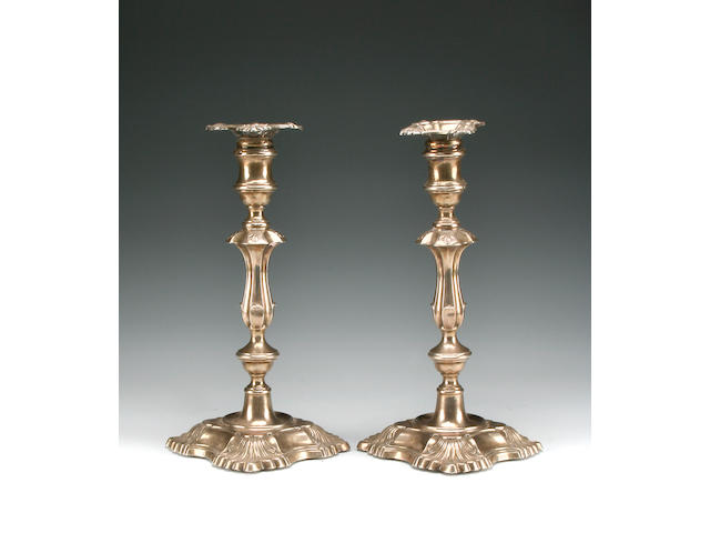 A Victorian pair of candlesticks by William Hutton & Sons Ltd., London 1897