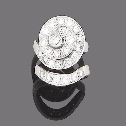 A diamond dress ring and a diamond ring (2)