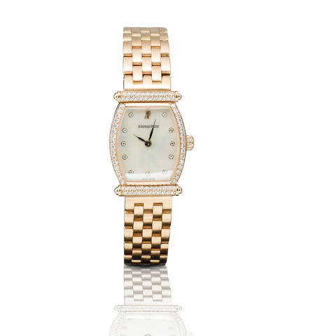 Audemars Piguet. A fine 18ct rose gold and diamond manual wind ladies wristwatchCarnegie, Case No. D70518, Circa 1980s