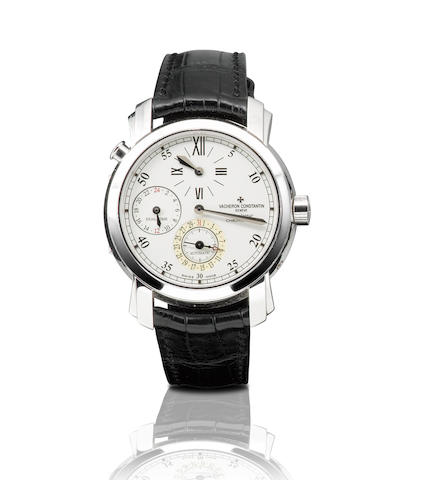 Vacheron Constantin. A fine and very rare 18ct white gold automatic regulator dual time zone wristwatch with dateMalte Dual Time, Ref: 42005, Case No. 766530, Circa 2000's