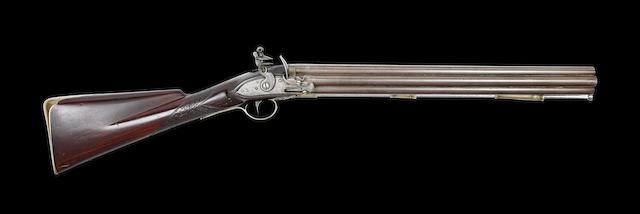 A Very Rare 40-Bore Second Model Seven-Barrelled Flintlock Volley Gun