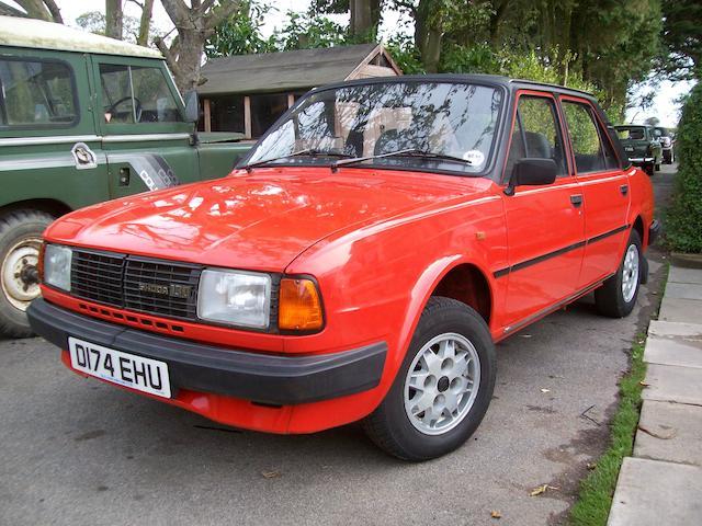1986 Skoda Estelle 130 LSE Saloon  Chassis no. TMB13MOOLG3311410 Engine no. 483707/7