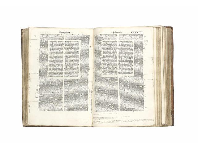 BIBLE, in Latin, Vulgate Biblia com postillis Nicolai de Lyra, Part 4