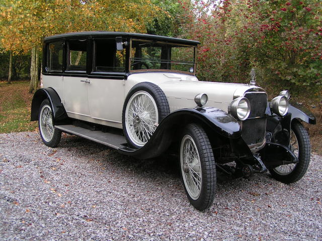 First owned by Sir Digby Legard of Scampston Hall, Malton, Yorkshire,1924 Sunbeam 20/60hp Saloon  Chassis no. 1116D Engine no. 1101D