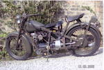 1956 Nimbus 746cc Four Military Motorcycle Frame no. 13847 Engine no. 11595
