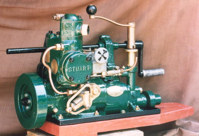 A 1961 Stuart Type R3M Marine Engine