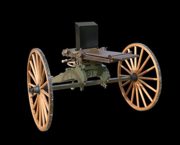 An Exceptionally Rare Nordenfelt .43 Spanish Ten-Barrelled Centre-Fire Mechanical Gun