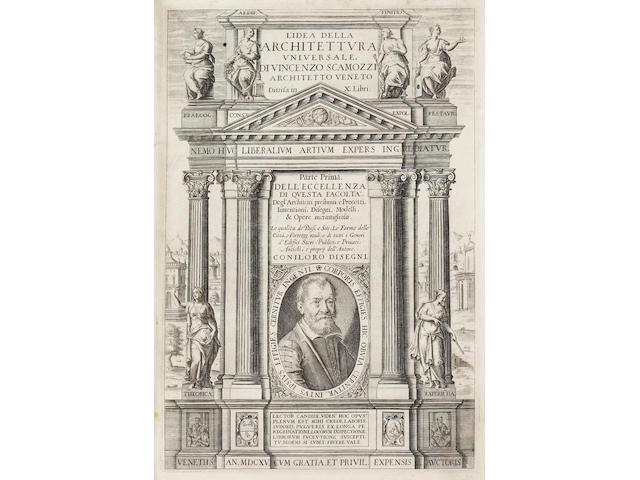 SCAMOZZI (VINCENZO) Dell' idea della architettura universale, 2 parts in one vol.