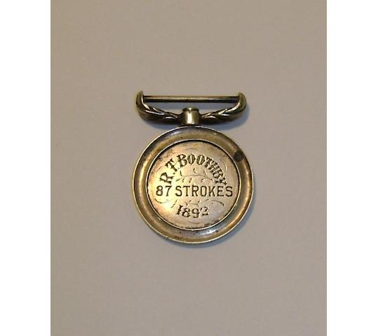 A St. Andrews Bombay Silver Medal 1892