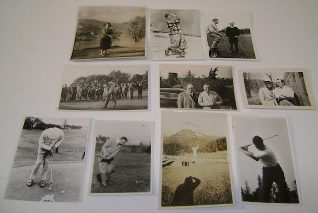 A collection of Henry Cotton annotated and signed photographs