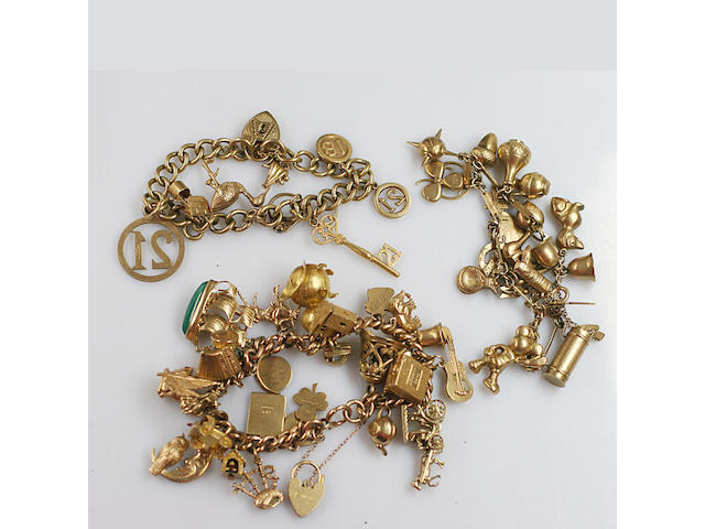 Three charm bracelets