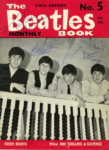An autographed issue of 'The Beatles Book' fan club monthly magazine,