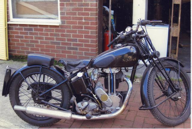 1936 Sunbeam 347cc Model 14 (see text) Frame no. 22/543/0/700 Engine no. A24E547