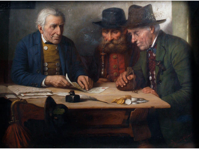Josef Wagner-Hohenberg (German, 1870-1938) The deal