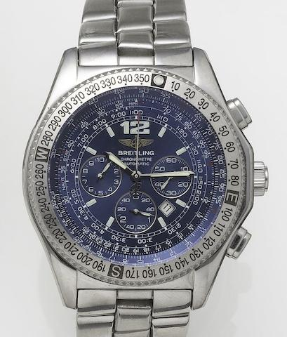 Breitling. A stainless steel automatic chronograph bracelet watchProfessional B2, Sold 1st April 2000