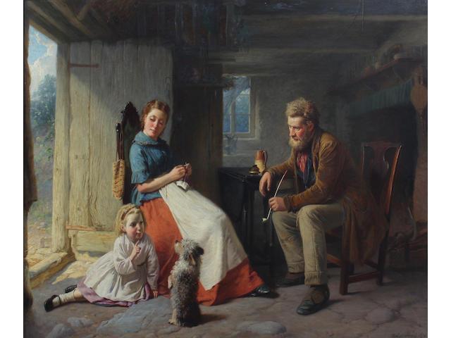 William Henry Midwood (British, active 1867-1871) 72 x 93cm