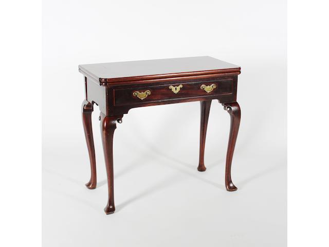 A George II mahogany tea table of good colour