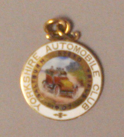 A Yorkshire Automobile Club Saltburn Speed Trials Gold Medal, 1907,