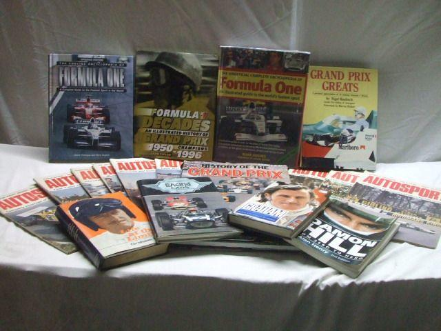 A large selection of Grand Prix and Formula 1 related books,