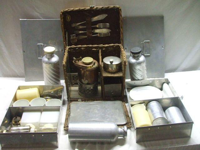 A small vintage picnic set,
