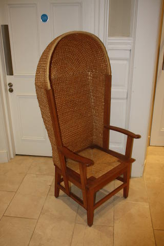 A 20th century hooded Orkney chair